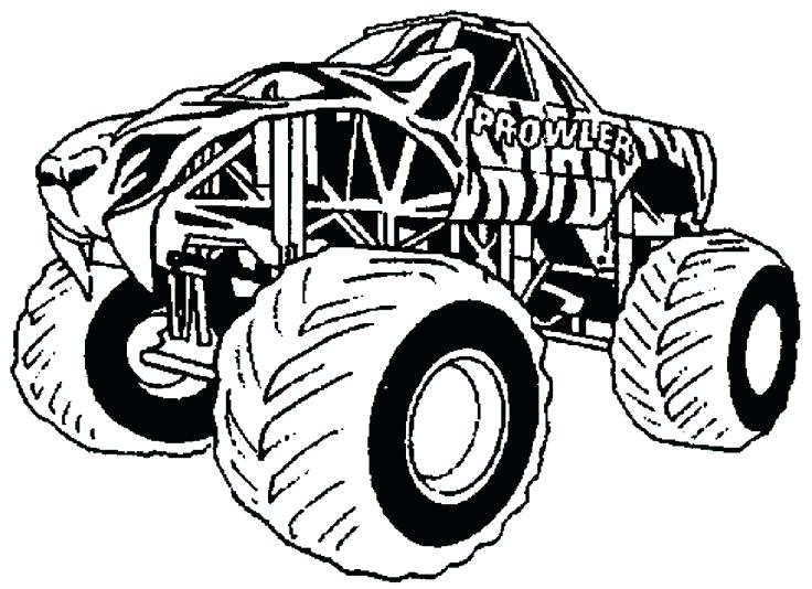 736x534 Monster Truck Coloring Pages Images