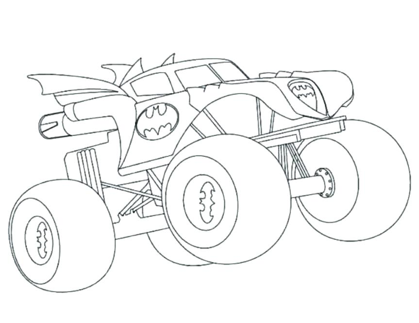 863x666 Monster Truck Grave Digger Coloring Also Truck Drawing Grave
