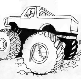 268x268 Coloring Pages Monster Trucks Grave Digger Archives