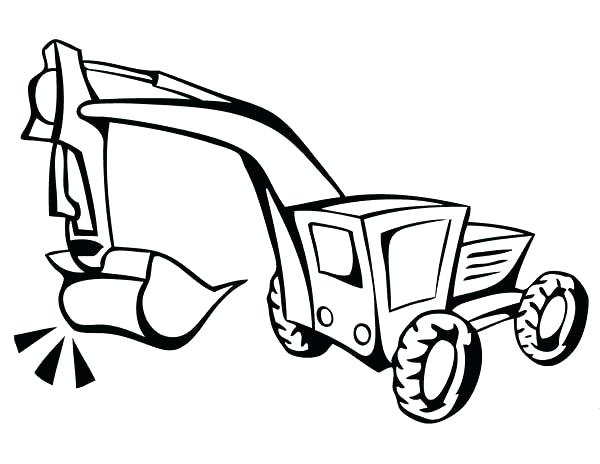 600x464 Digger Coloring Pages Digger Coloring Page Digger How To Draw