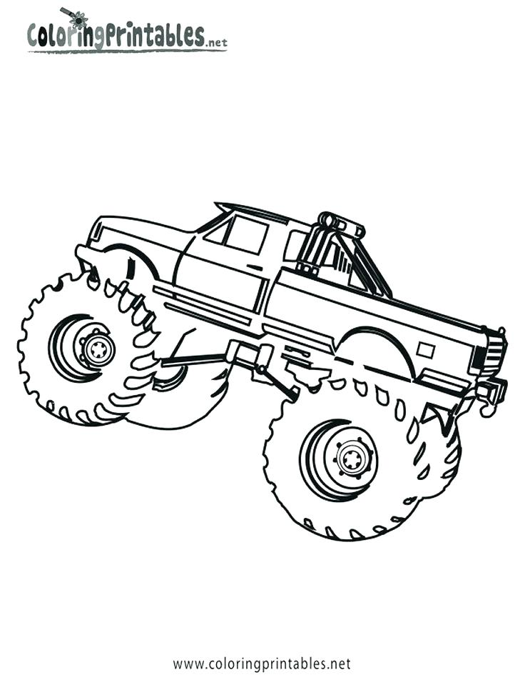 736x952 Free Printable Monster Truck Coloring Pages Grave Digger Coloring