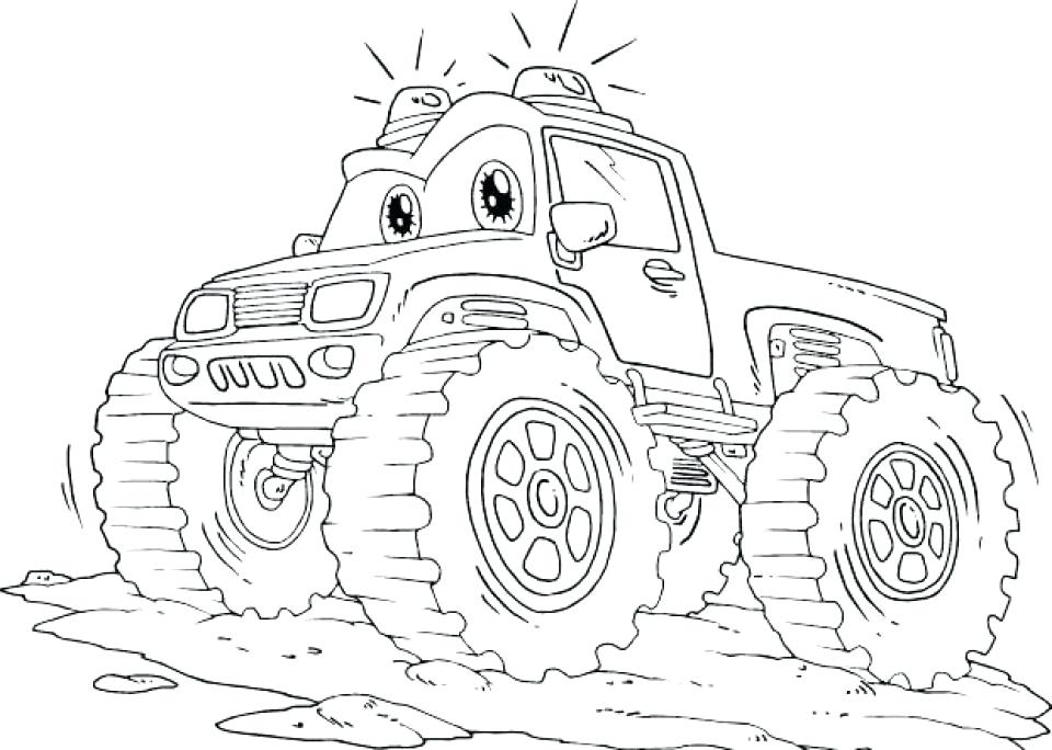 960x684 Good Monster Truck Coloring Pages For Monster Truck Coloring Pages