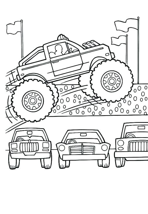 505x730 Grave Digger Monster Truck Coloring Pages Hot Wheels Monster Truck