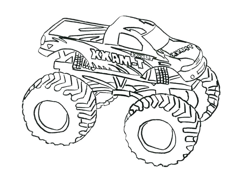 900x654 Grave Digger Monster Truck Coloring Pages Printable Plus Awesome