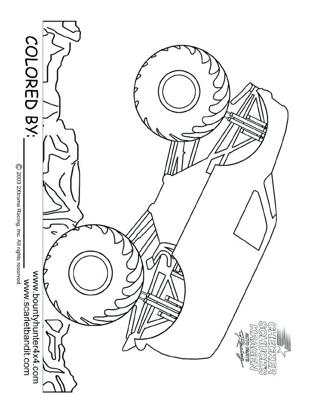 612x792 Grave Digger Monster Truck Coloring Pages Printable Plus Monster