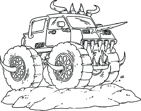 600x473 Monster Jam Coloring Book Grave Digger Monster Truck Coloring