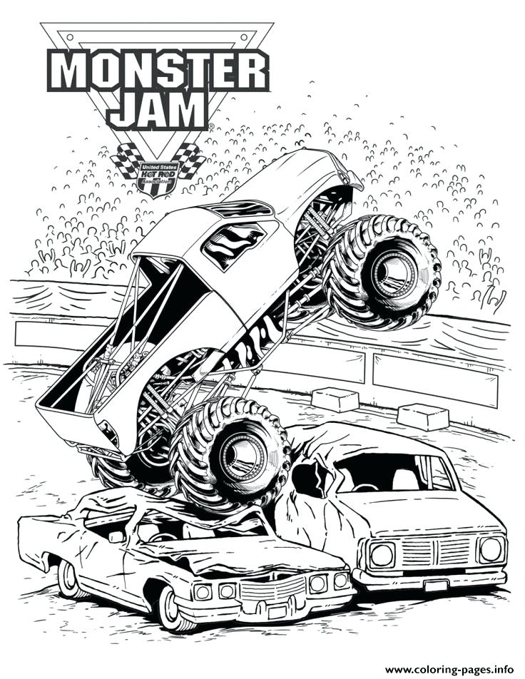 736x952 Monster Truck Pictures To Color Free Monster Truck Coloring Page
