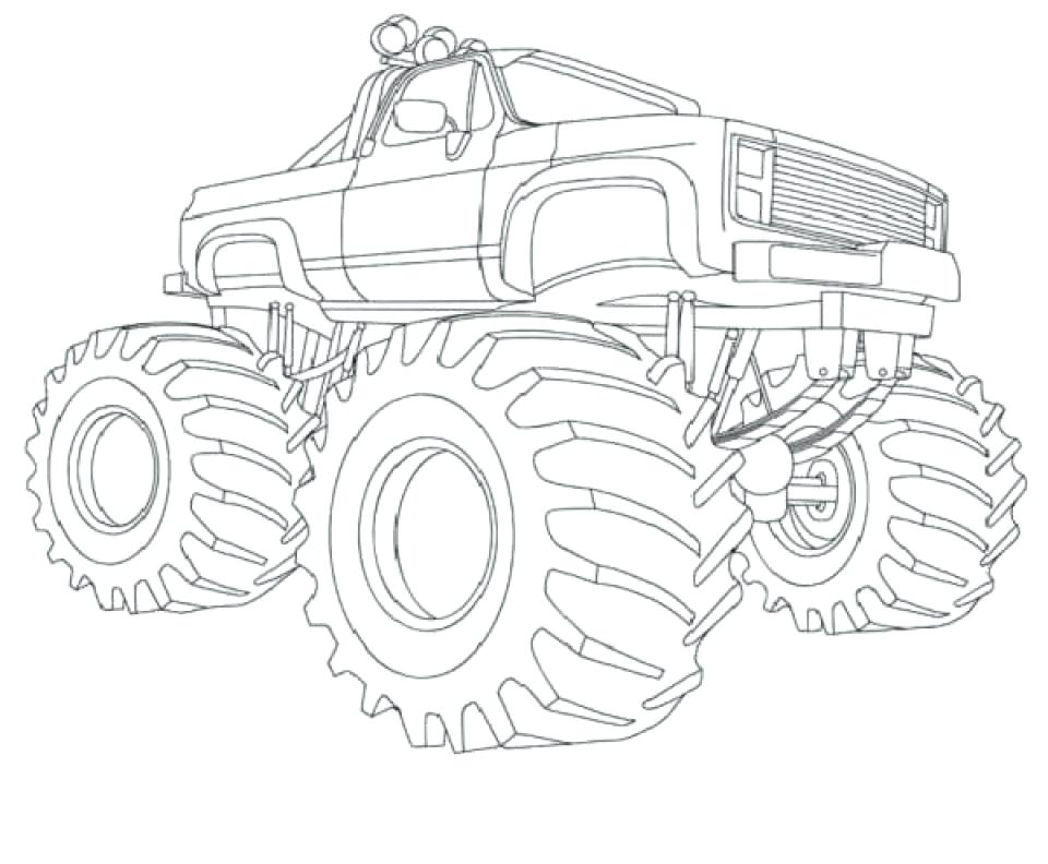 960x792 Monster Trucks Coloring Pages And Monster Truck Coloring Pages