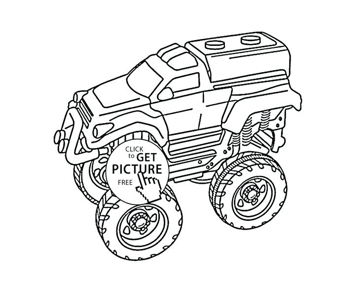 736x577 Monster Trucks Coloring Pages Download Grave Digger Monster Truck