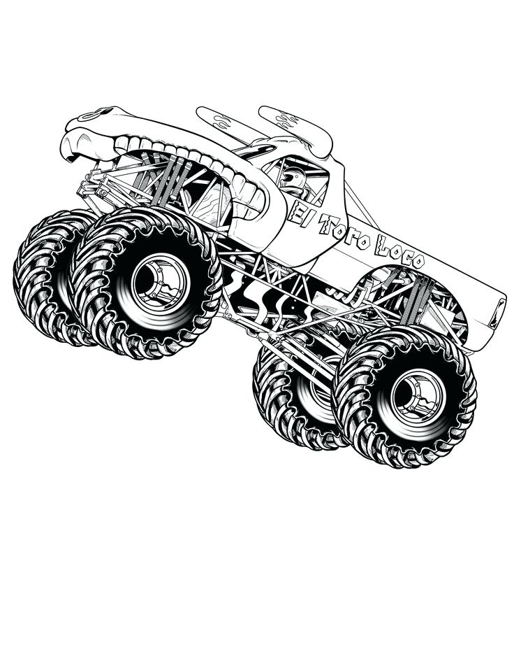 736x952 This Is Monster Truck Coloring Page Pictures Grave Digger Monster
