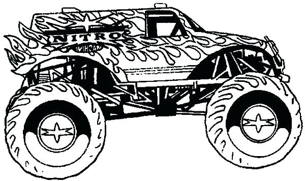 600x356 Monster Truck Coloring Pages Printable Synthesis.site