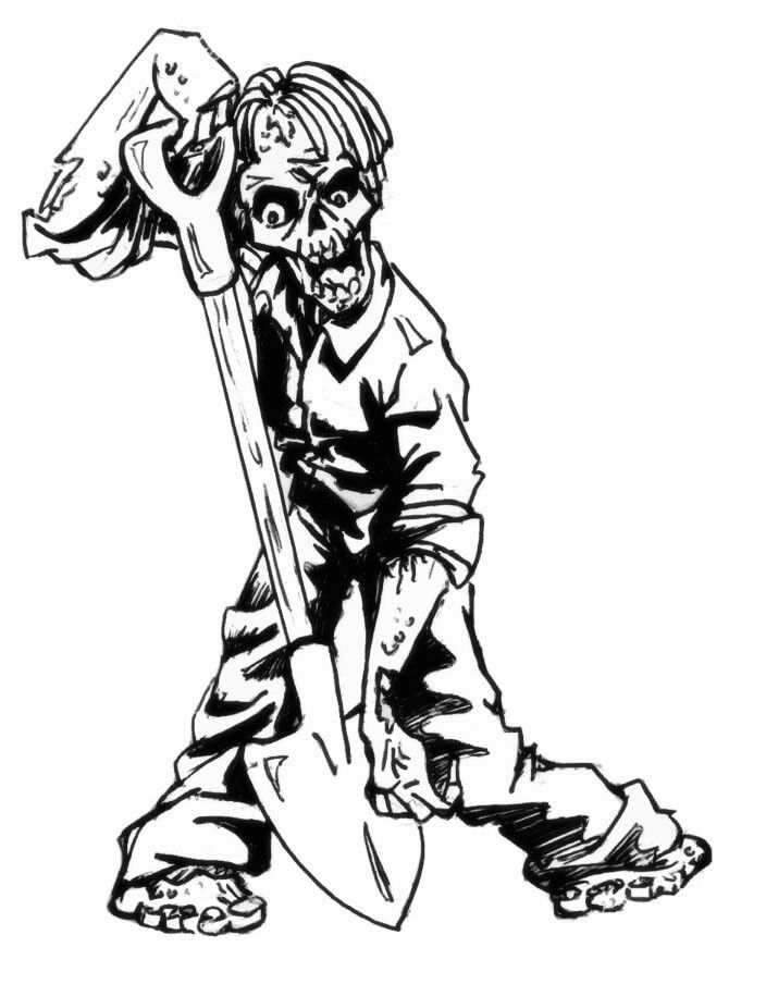 Grave drawing at free for personal use for Grave coloring pages