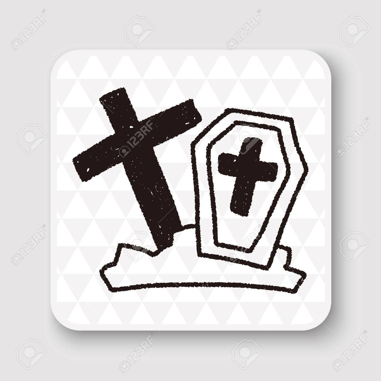 1300x1300 Grave Doodle Drawing Royalty Free Cliparts, Vectors, And Stock
