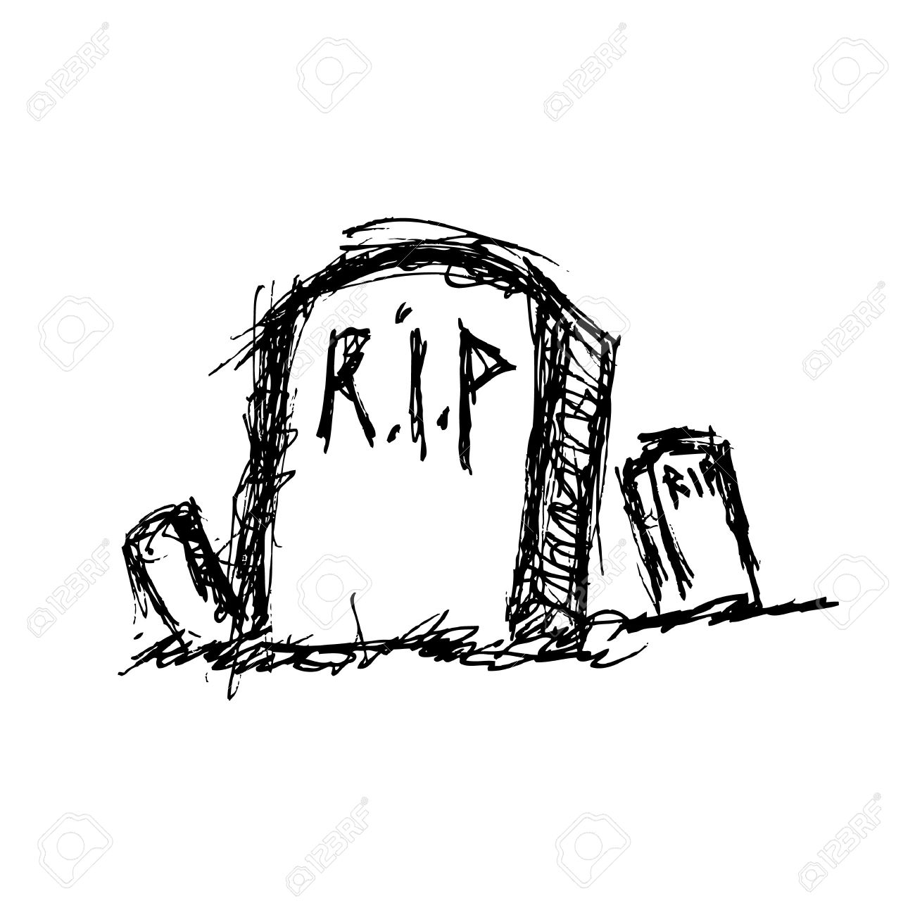 1300x1300 Hand Drawn Grave Royalty Free Cliparts, Vectors, And Stock