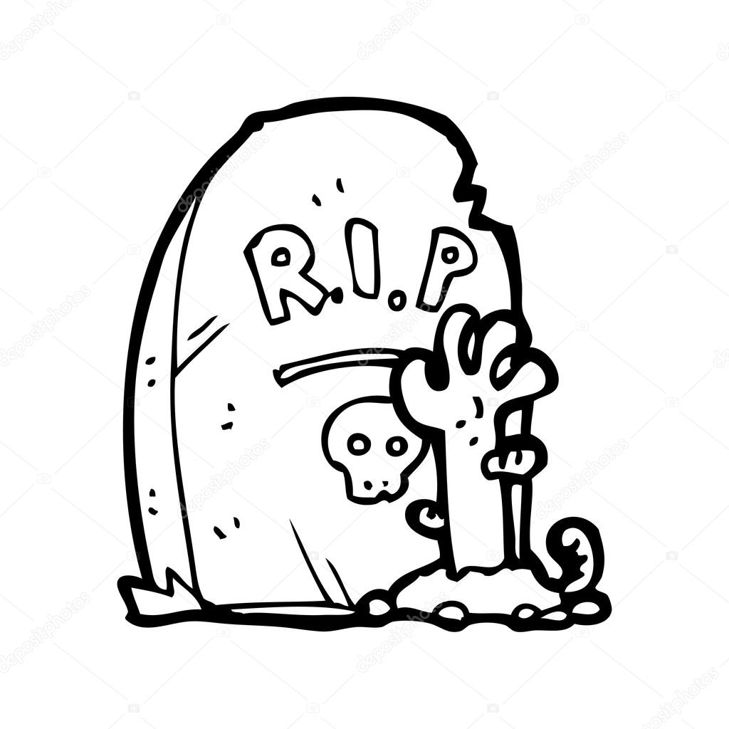 1024x1024 Zombie Rising From Grave Cartoon Stock Vector Lineartestpilot