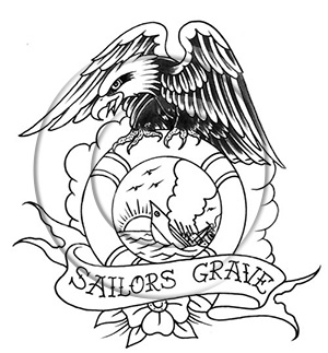 300x323 Navy Drawings Of Tattoos Sailor's Grave Tattoo Design By Greg