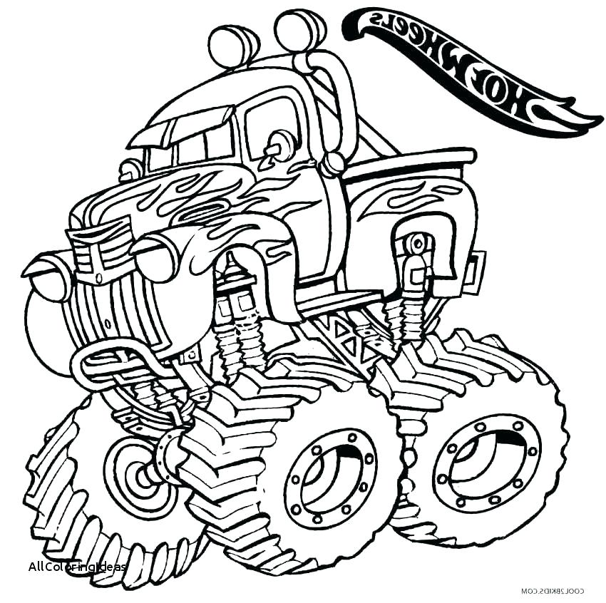 850x846 Digger Coloring Pages Monster Truck Grave Digger Coloring Page