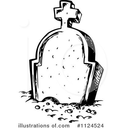 400x420 Deluxe Gravestone Clipart Free Tombstone Clipart Illustration By