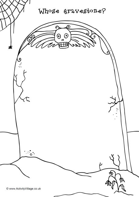 460x651 Gravestone Doodle Page