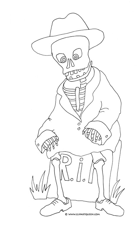 475x763 Halloween Grave Coloring Pages