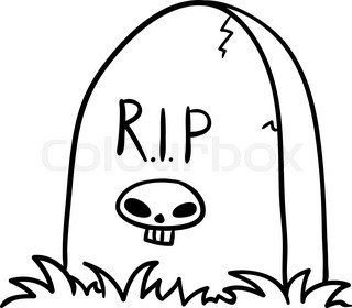 320x280 Halloween Grave Doodle , Vector Illustration On A White Background