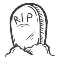 200x200 Halloween tombstone Vector Image