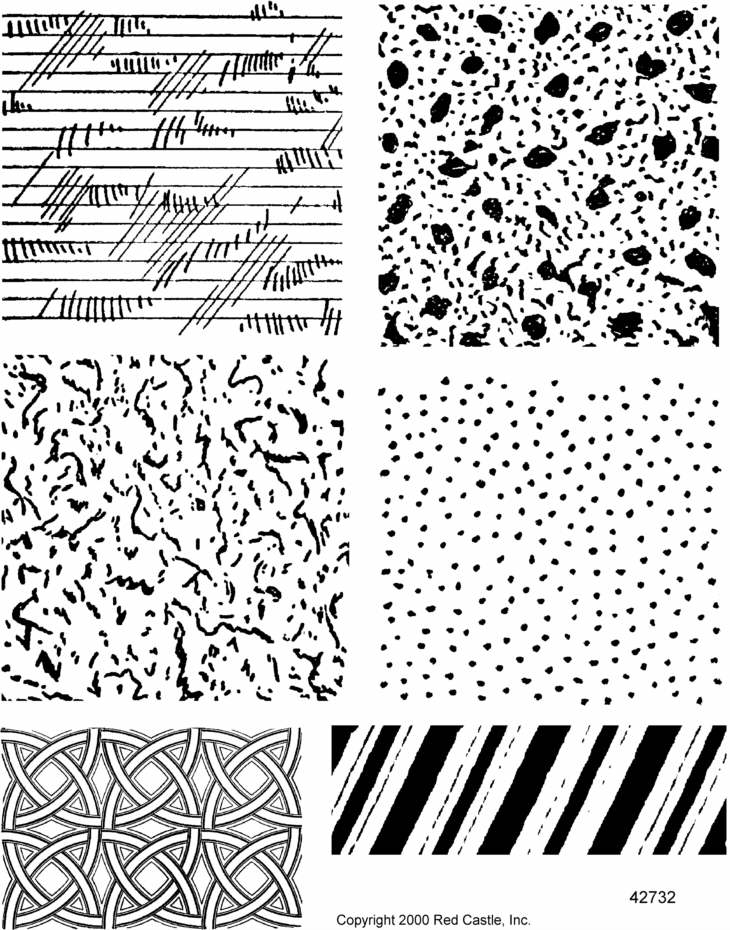 730x930 42732 Textures Plate 2 Sheets Of Unmounted Rubber Stamps From Red