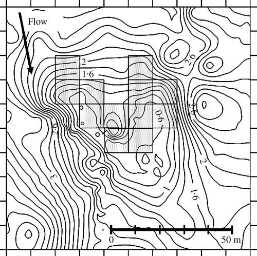 500x499 Bathymetric Map Of The Lower Gravel Bar