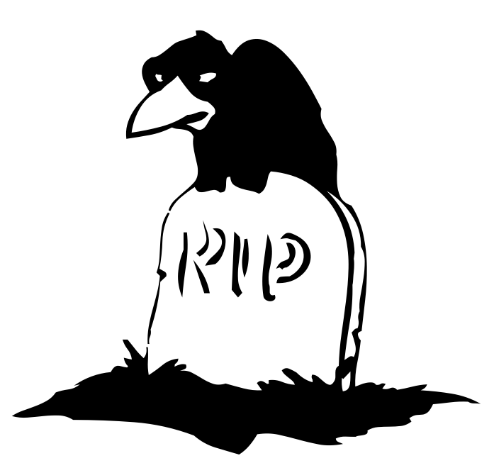 697x660 Crow On Gravestone