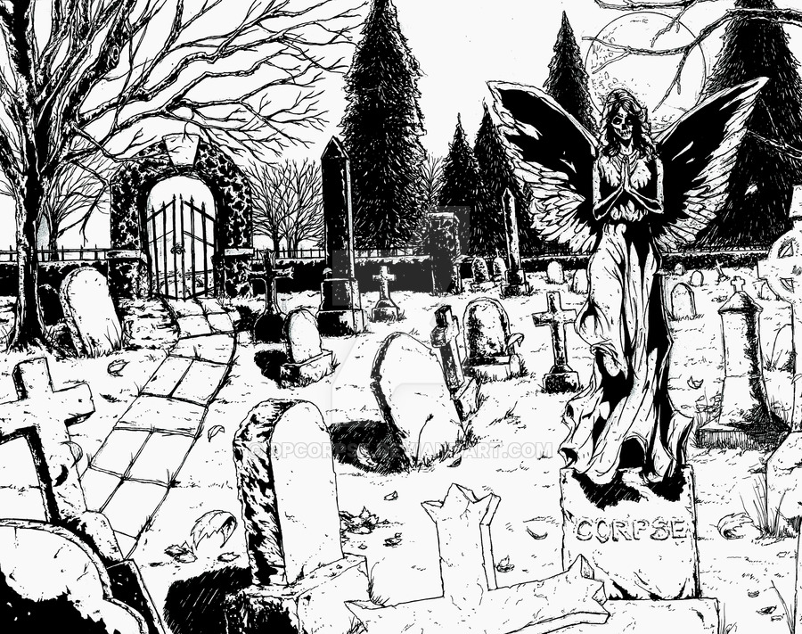 900x711 Graveyard By Dpcorpse