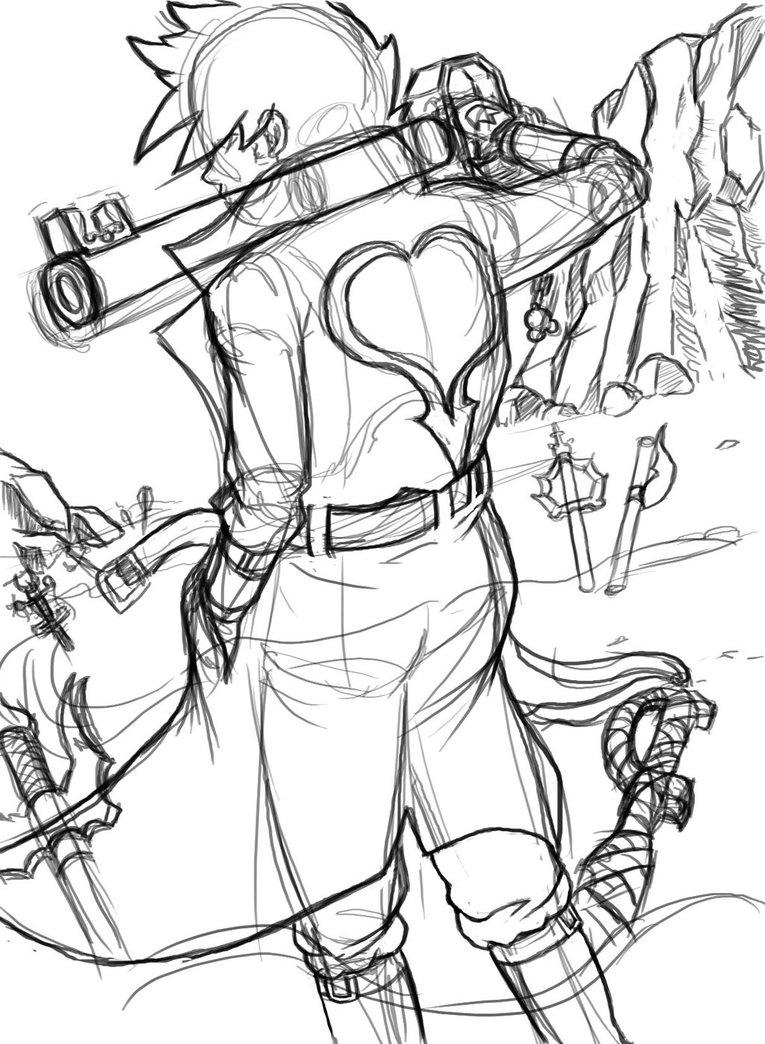 765x1044 Keyblade Graveyard Re Draw Wip By Shin76e