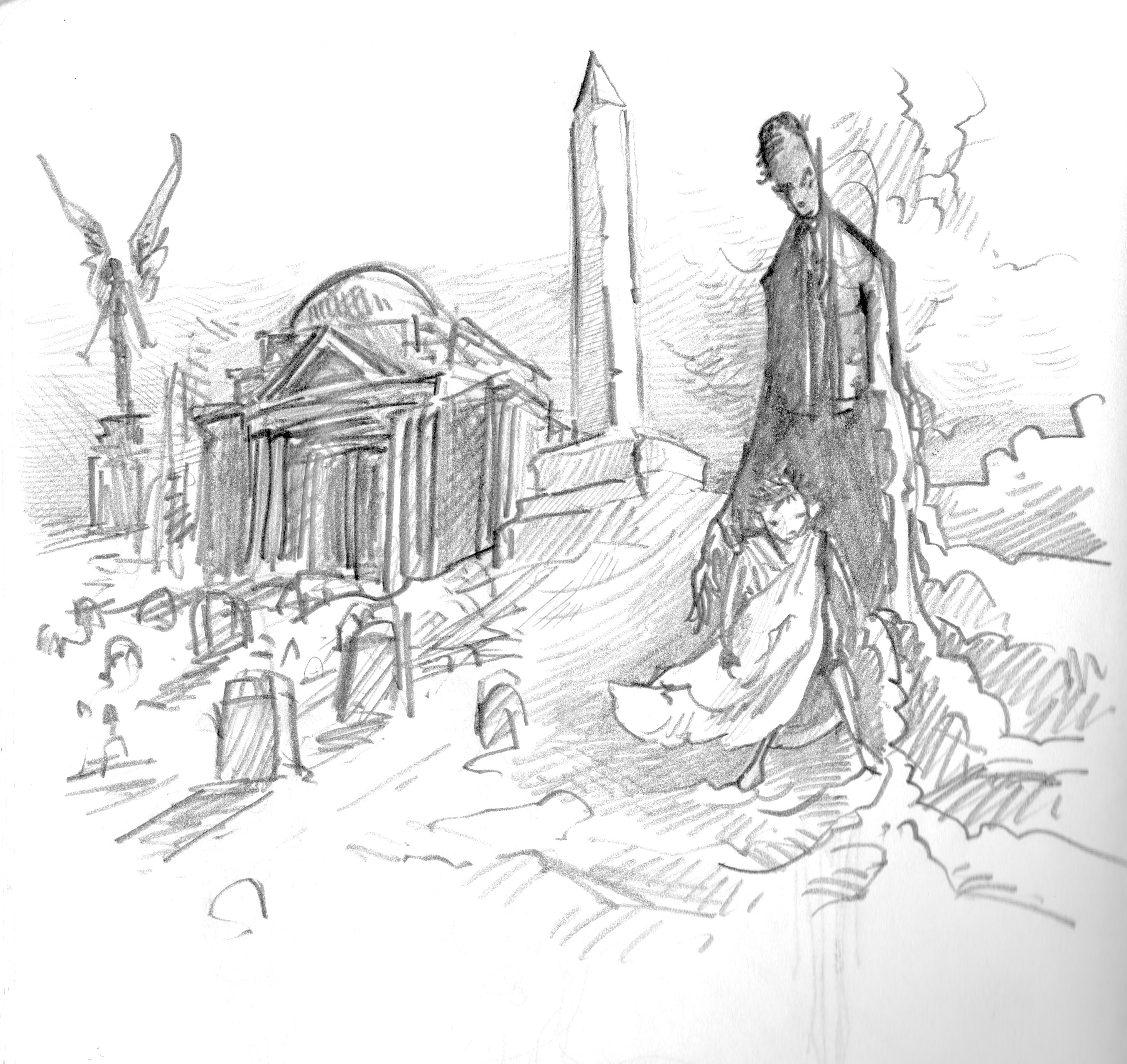 3840x3625 Neil Gaiman The Graveyard Book Drawings The Graveyard Book