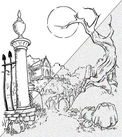 400x450 Drawings Of Graveyards