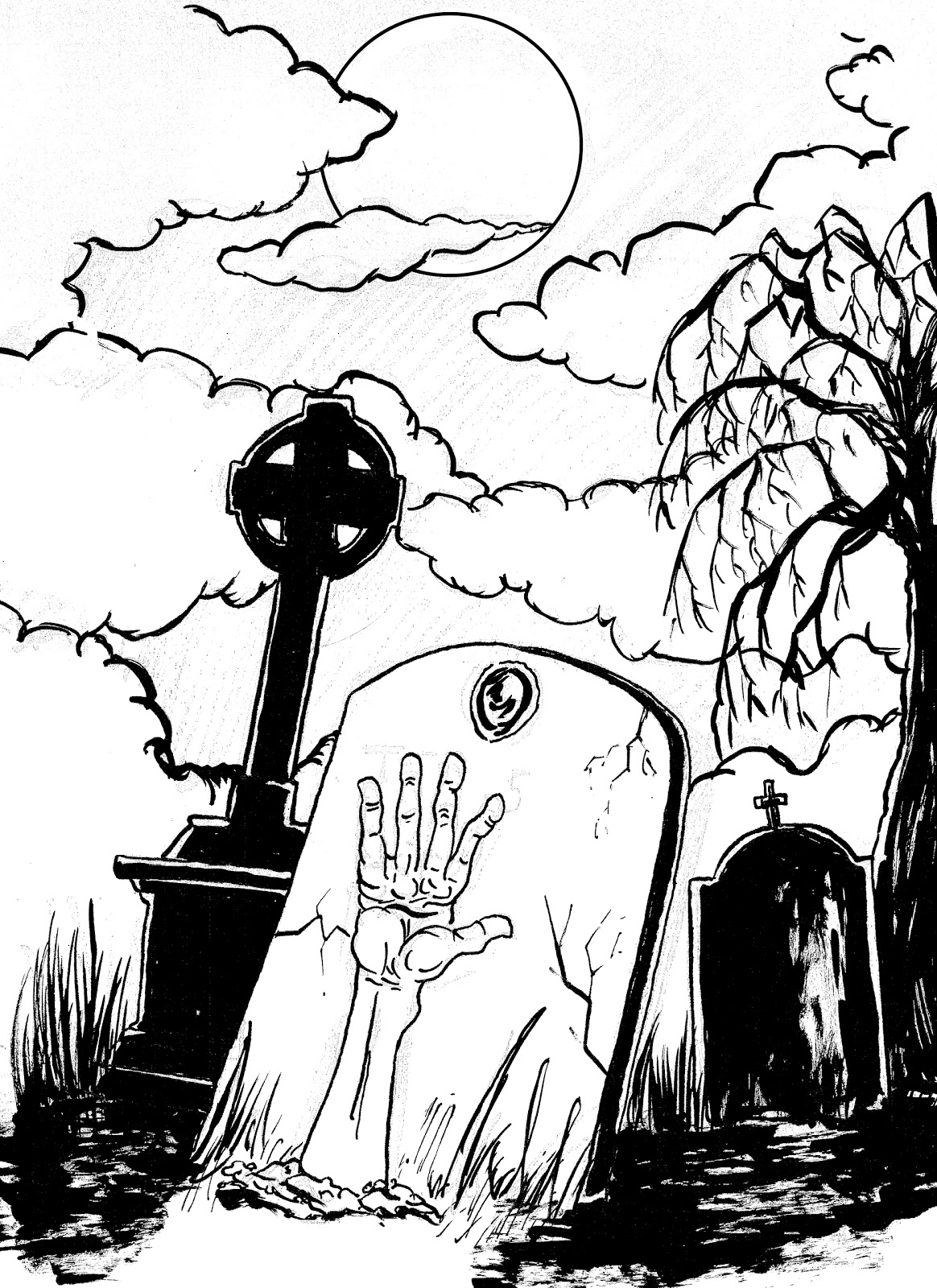 1164x1600 Gio's Art The Cook And The Graveyard