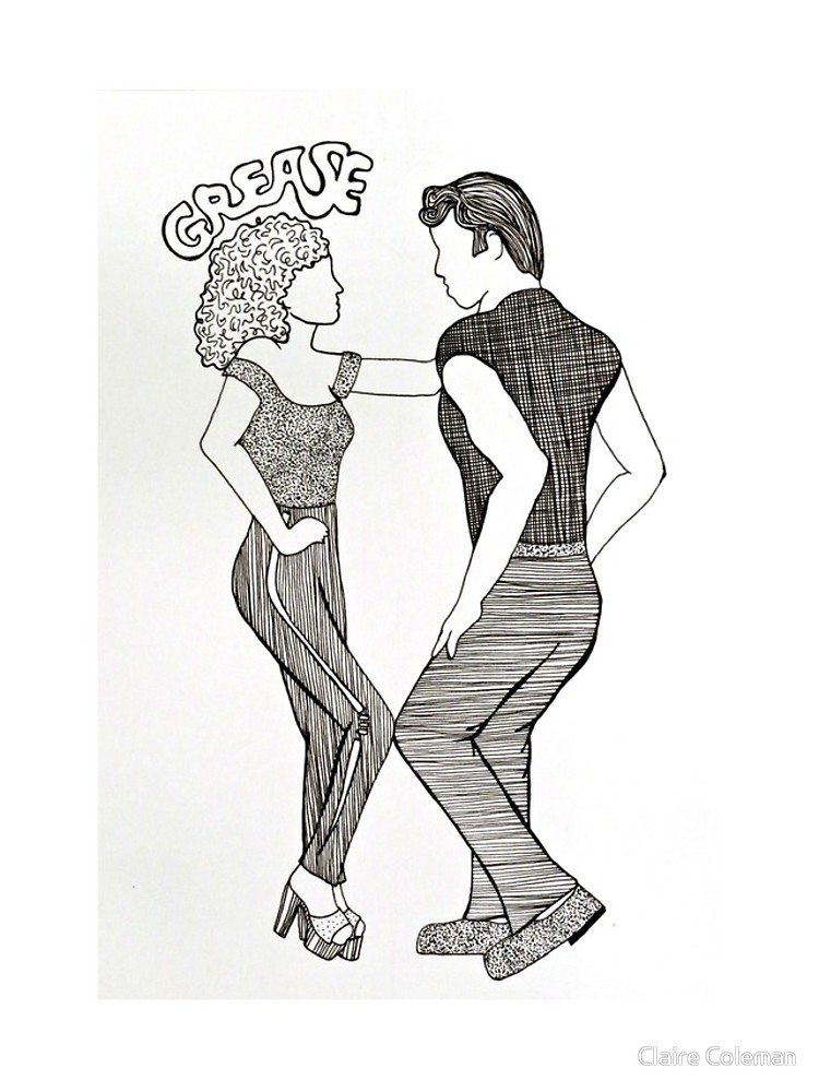 750x1000 Grease Movie Illustration Danny And Sandy Iphone Cases Amp Skins By