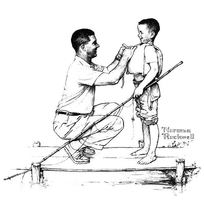 650x637 Norman Rockwell Drawing The American Dream