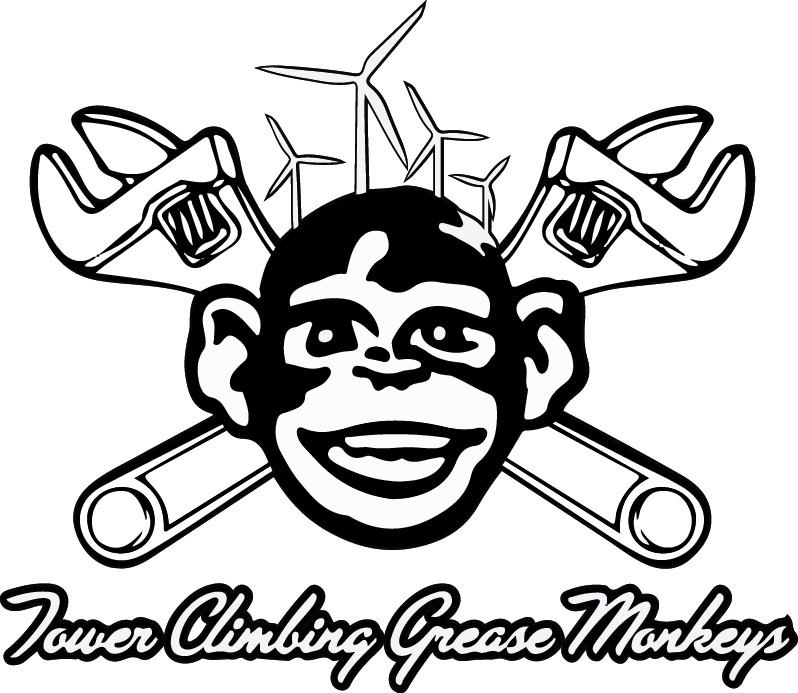 798x693 Sticker Grease Monkey Bampw (10.4 X 12) Tower Climbing Grease Monkeys