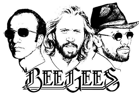 550x371 Bee Gees, Stayin Alive,artwork On Wall Prints, Apparel, Mugs, T