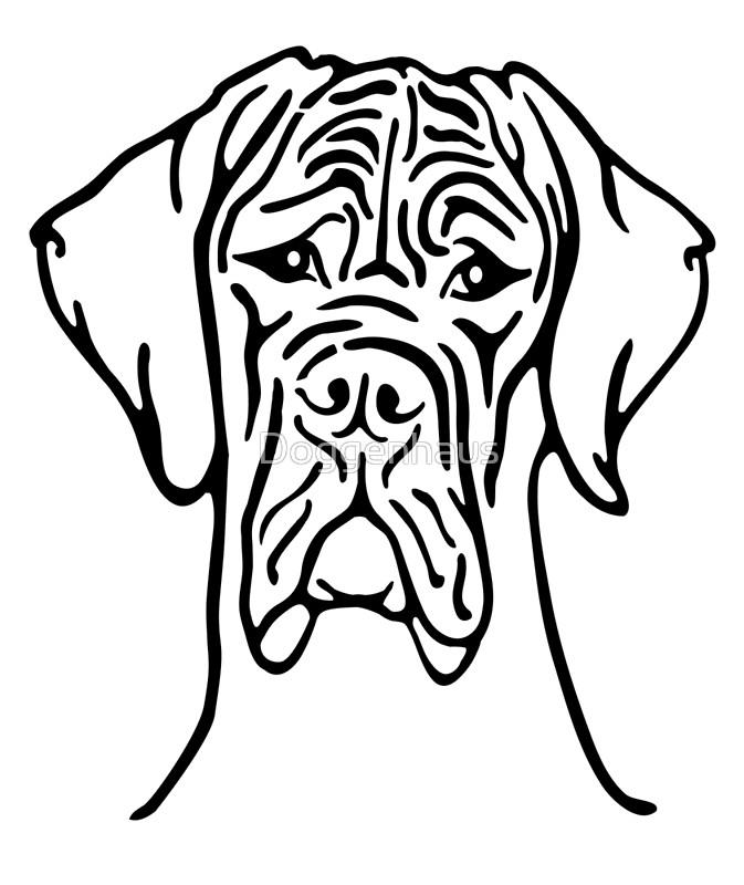 great dane drawing at getdrawings com