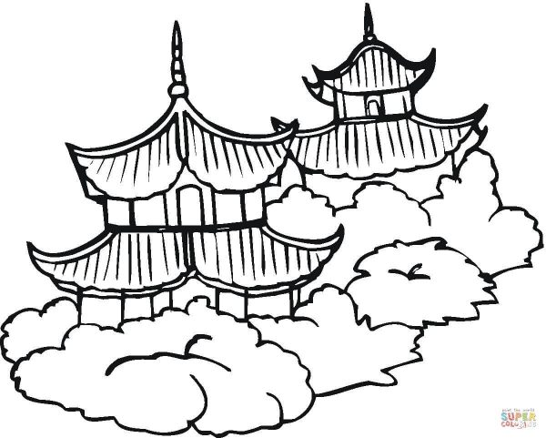 600x481 Free Coloring. Great Wall Of China Coloring Page