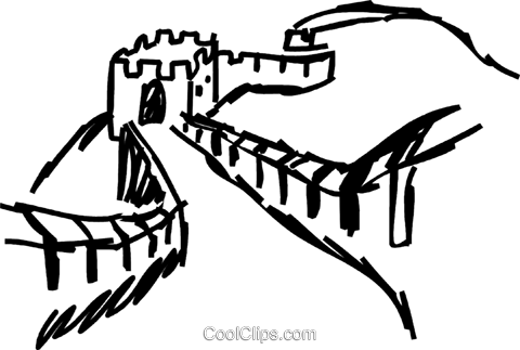 480x323 Great Wall Of China Royalty Free Vector Clip Art Illustration