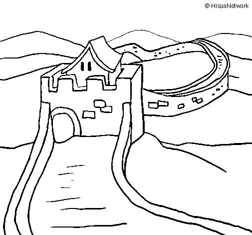 505x470 The Great Wall Of China Coloring Page