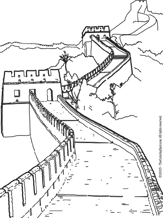 540x720 Great Wall Of China Clipart Black And White Pencil And In Color