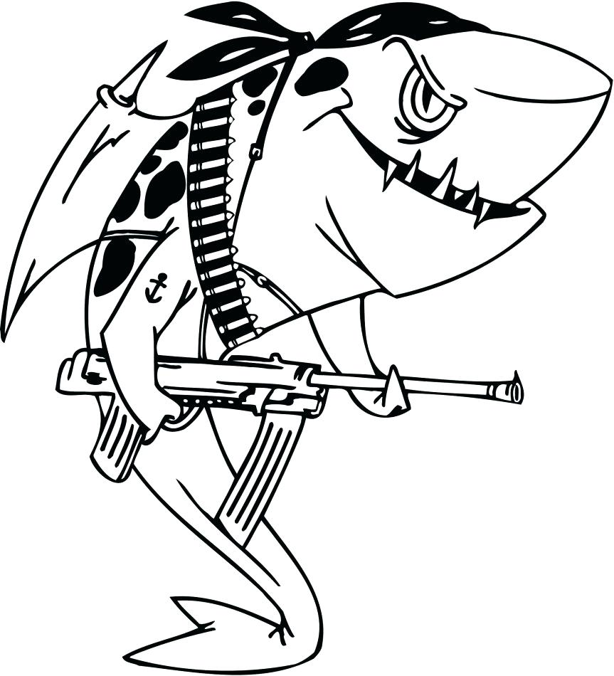 Great White Shark Cartoon Drawing at GetDrawings.com | Free for ...