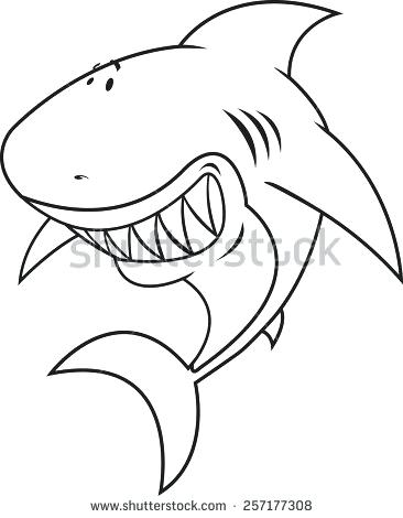 366x470 Great White Shark Coloring Great White Shark Looking Shark
