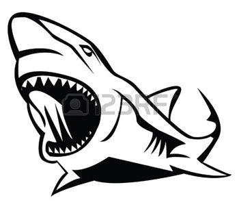 350x305 Great White Shark Shark Boat Club Shark