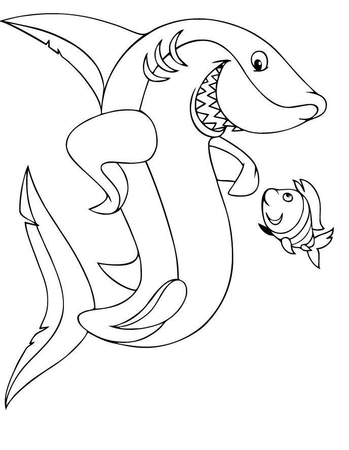 688x885 Great White Shark Clipart Coloring Book