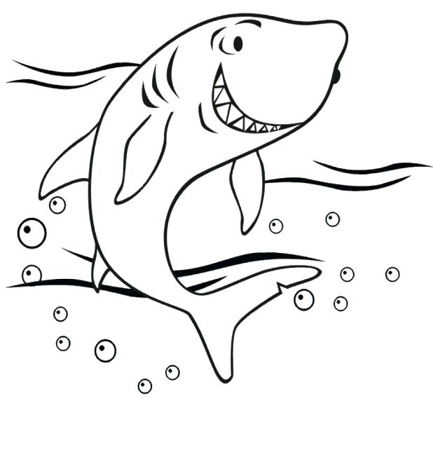 618x652 Shark Tale Coloring Pages Good Shark Coloring Pages For Line