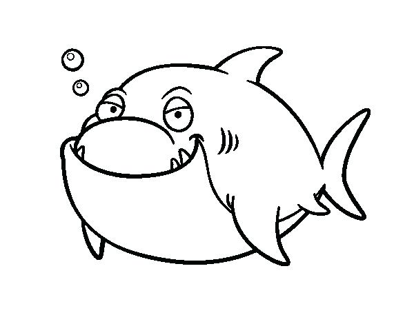600x470 Great White Shark Coloring Pages