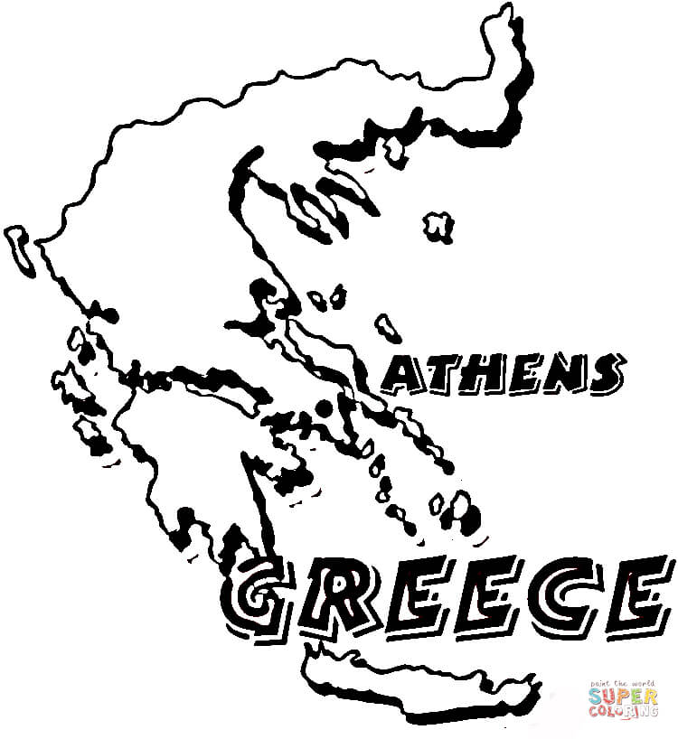 graphic about Printable Map of Ancient Greece identify Greece Map Drawing at  Absolutely free for particular person